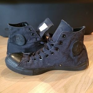 High Top All Black Converse All-Star (Size 11)